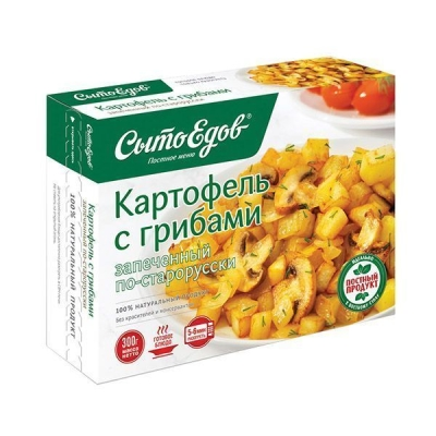 Картофель с грибами запеченный по-старорусски 'Сытоедов' замороженный (только разогреть)