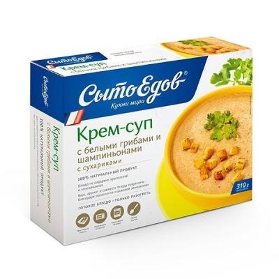 Крем-суп из белых грибов и шампиньонов 'Сытоедов' замороженный (только разогреть)