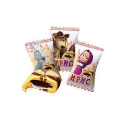 Ирис Ламзурь Маша и Медведь с начинкой со вкусом шоколада