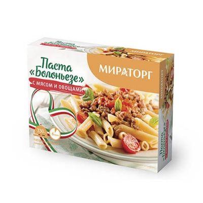 Паста Мираторг Болоньезе с мясом и овощами замороженная