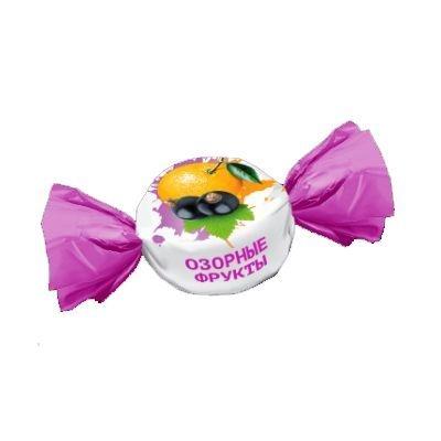Конфеты Конти Озорные фрукты вкус апельсин-смородина