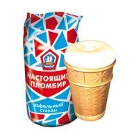 Мороженое РосФрост НАСТОЯЩИЙ ПЛОМБИР ваниль Стакан