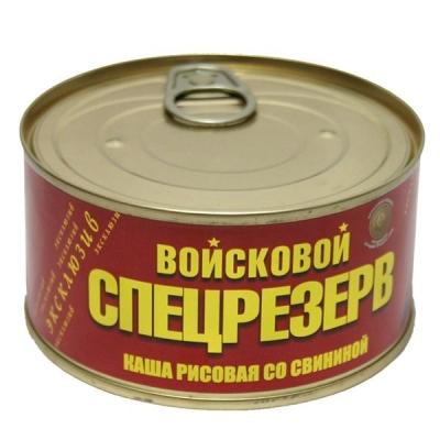 Каша рисовая со свининой Войсковой Спецрезерв, ГОСТ