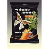 Флайчипсы зерновые с морковью