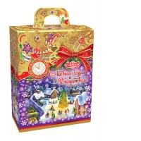 Кондитерский набор Савинов «Золотое Рождество»  в худ упаковке (конфеты, печенье, вложение)
