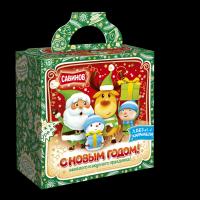 Кондитерский набор Савинов Зима, Снежки, Ура!  в художественной упаковке (конфеты, печенье)