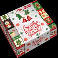 Кондитерский набор Савинов Новогодний микс  в художественной упаковке (конфеты, печенье)