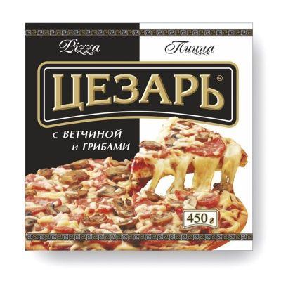 Пицца Цезарь с ветчиной грибами