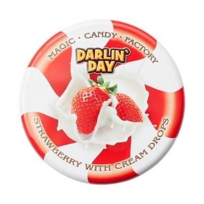 Карамель леденцовая молочная 'DARLIN' DAY' со вкусом клубники и сливок
