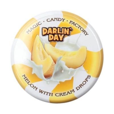 Карамель леденцовая молочная 'DARLIN' DAY' со вкусом дыни и сливок