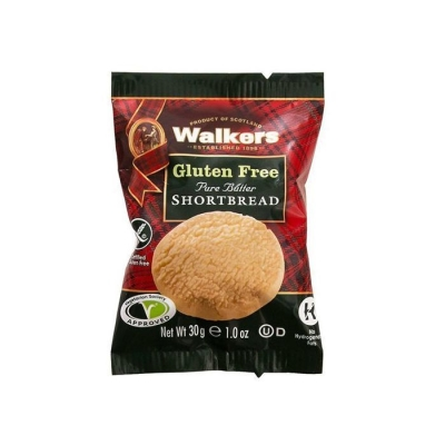 Печенье песочное 'Walkers' Круглое без глютена  в индивидуальной упаковке