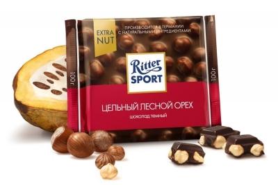 Шоколад горький Риттер Спорт Цельный лесной орех
