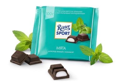 Шоколад темный Риттер Спорт с мятной начинкой