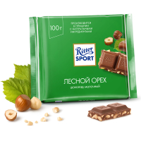 Шоколад молочный Риттер Спорт дробленый Лесной орех