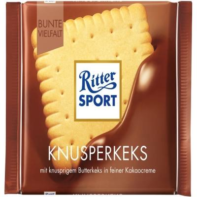 Шоколад молочный Риттер Спорт с печеньем