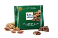 Шоколад молочный Риттер Спорт Целый  миндаль