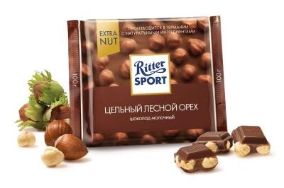 Шоколад молочный Риттер Спорт цельный Лесной Орех