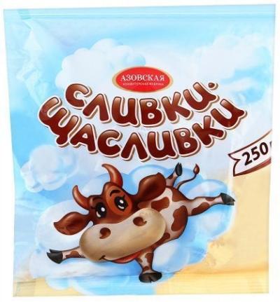 Ирис молочный Азовская кондитерская фабрика Сливки щасливки