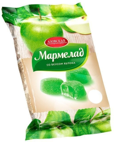 Мармелад Азовская кондитерская фабрика Зеленое яблоко