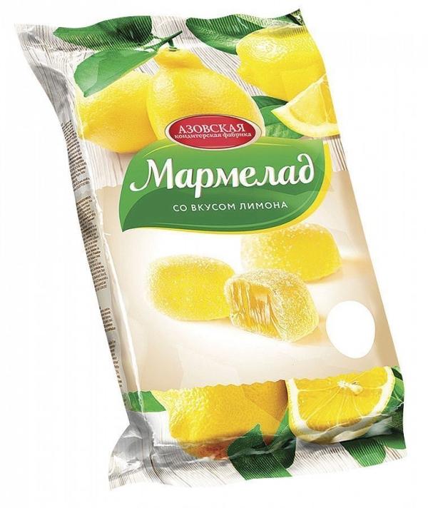 Мармелад Азовская кондитерская фабрика Сочный лимон