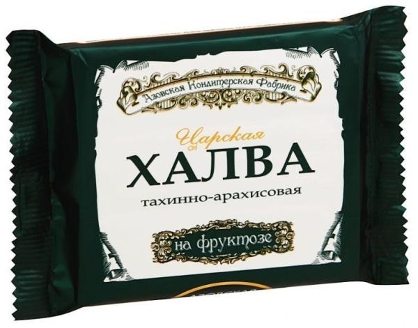Халва Азовская кондитерская фабрика тахинно-арахисовая на фруктозе