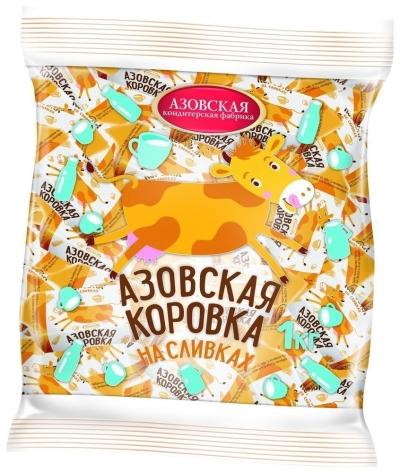 Конфеты Азовская кондитерская фабрикаская коровка на сливках