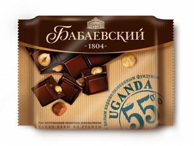 Шоколад Бабаевский темный Uganda c карамелизованным фундуком