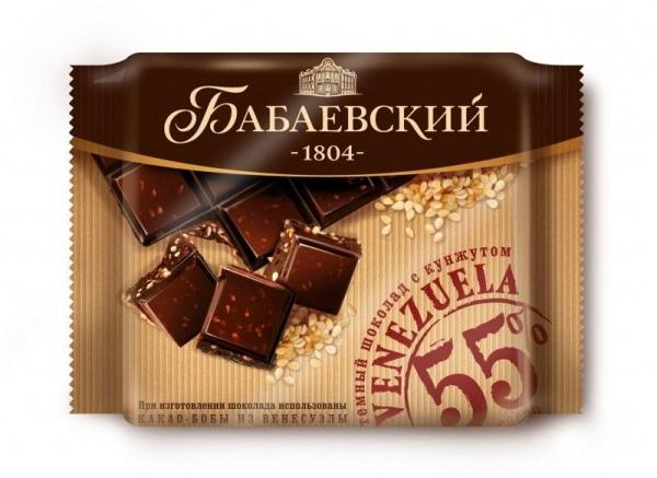Шоколад Бабаевский темный Venezuela с кунжутом