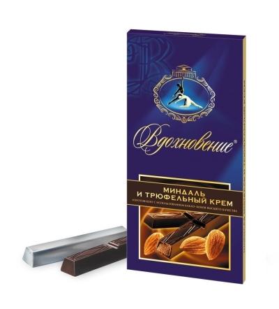 Шоколад Бабаевский Вдохновение миндаль и трюфельный крем