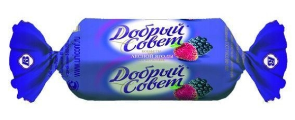 Конфеты Воронежская КФ Добрый совет вкус лесные ягоды на фруктозе