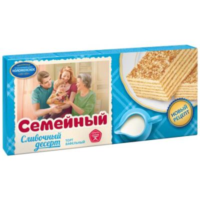 Торт Коломенское Семейный Сливочный десерт