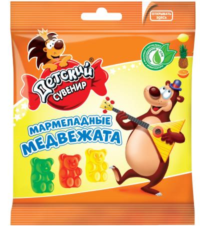 Мармелад Славянка Детский сувенир мармеладные медвежата