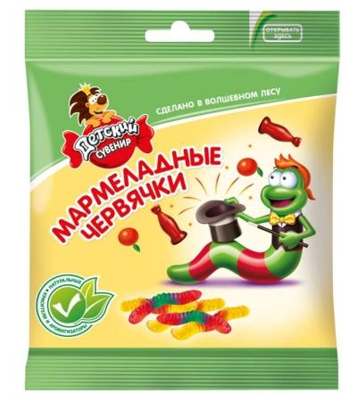 Мармелад Славянка Детский сувенир мармеладные червячки