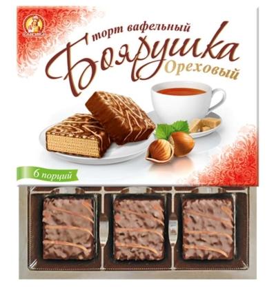 Торт вафельный Славянка Боярушка ореховый