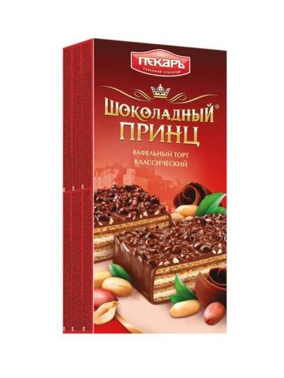 Торт вафельный Славянка шоколадный Принц Пекарь