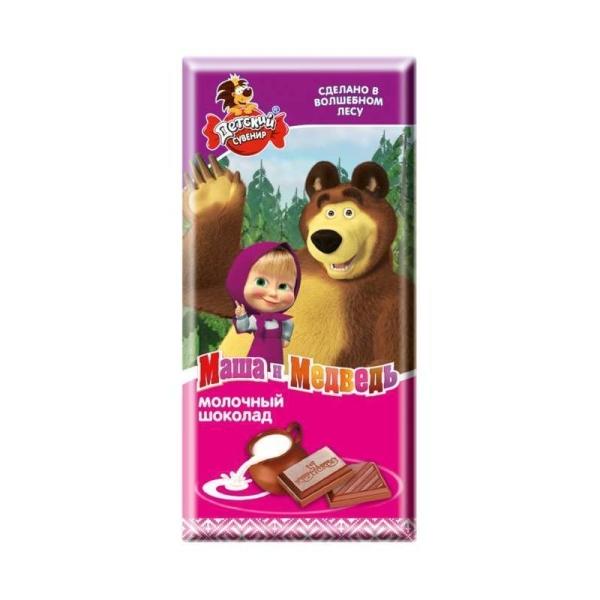 Плитка Славянка Детский сувенир молочный (Маша и Медведь)