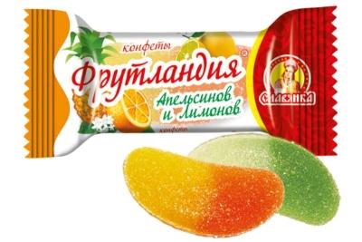 Конфеты Славянка Фрутландия апельсинов и лимонов