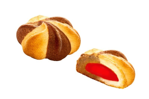 Печенье Белогорье Шапито с клубничной начинкой