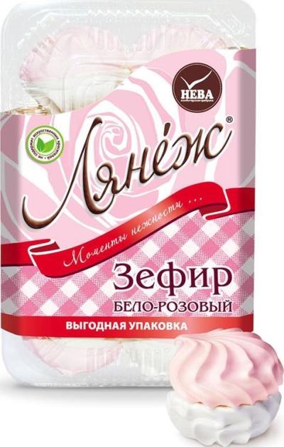 Зефир Нева 'Лянеж' бело-розовый