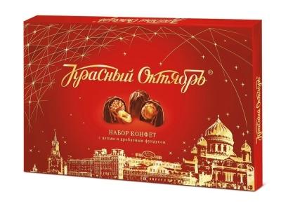 Набор конфет с начинкой Красный Октябрь с цельным и дробленым фундуком