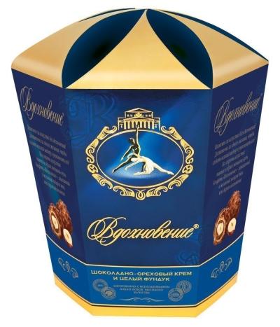 Шоколадный набор Красный Октябрь Вдохновение с шоколадно-ореховым кремом и фундуком