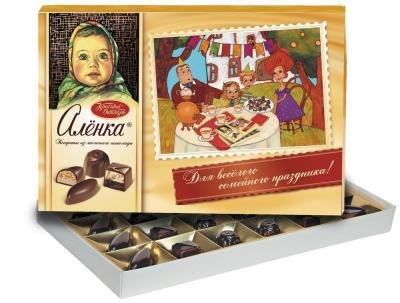 Конфеты шоколадные Красный Октябрь Аленка из молочного шоколада