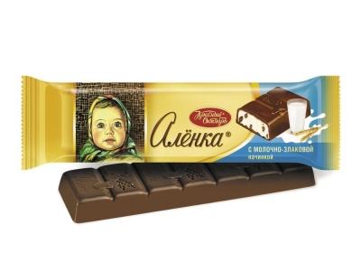 Шоколад Красный Октябрь Аленка с молочно злаковой начинкой