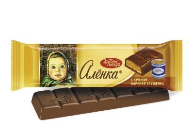 Шоколад Красный Октябрь Аленка с начинкой вареная сгущенка