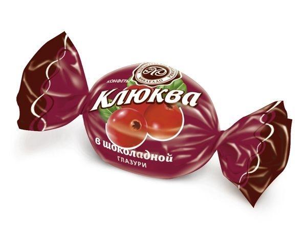 Конфеты Микаелло Клюква в бело-темной шоколадной глазури