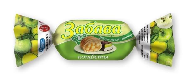 Конфеты Пензенская КФ Забавы яблочный десерт