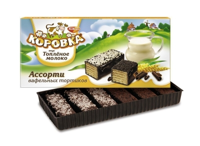 Торт Рот Фронт Ассорти Коровка топленое молоко со светлой и темной крошкой