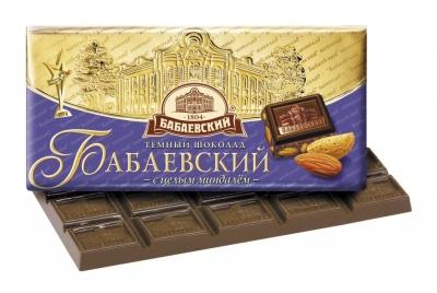 Шоколад Бабаевский горький с цельным миндалем