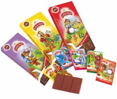 Шоколад Сормовская КФ Сказка молочный
