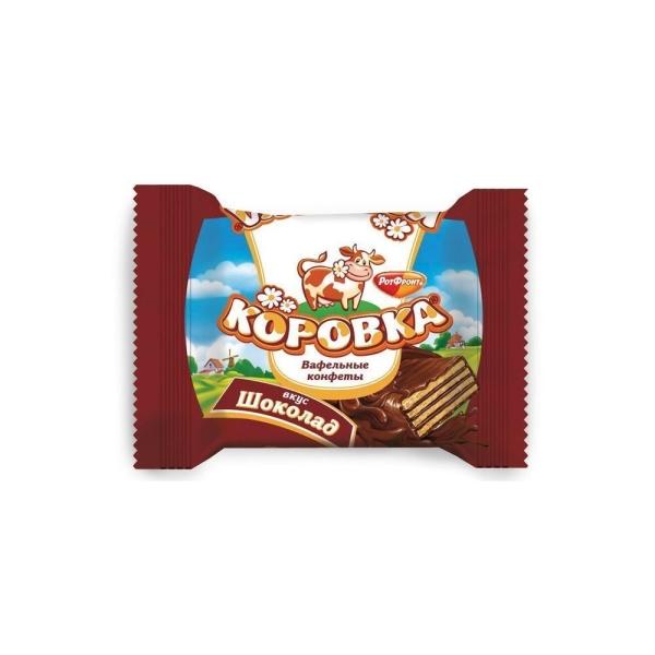 Конфеты ТАКФ Коровка вафельные начинка шоколад